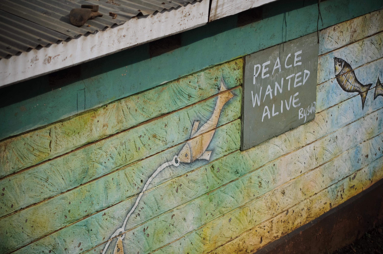 A mural seen throughout Kibera, Kenya.