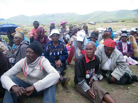 More than 725,000 people in Lesotho - over one third of the population - are short of food.