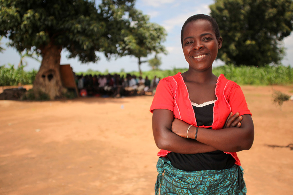 Lobina is a member of the Mothers' Group in Malita's village, who volunteer their time to help keep children in school.