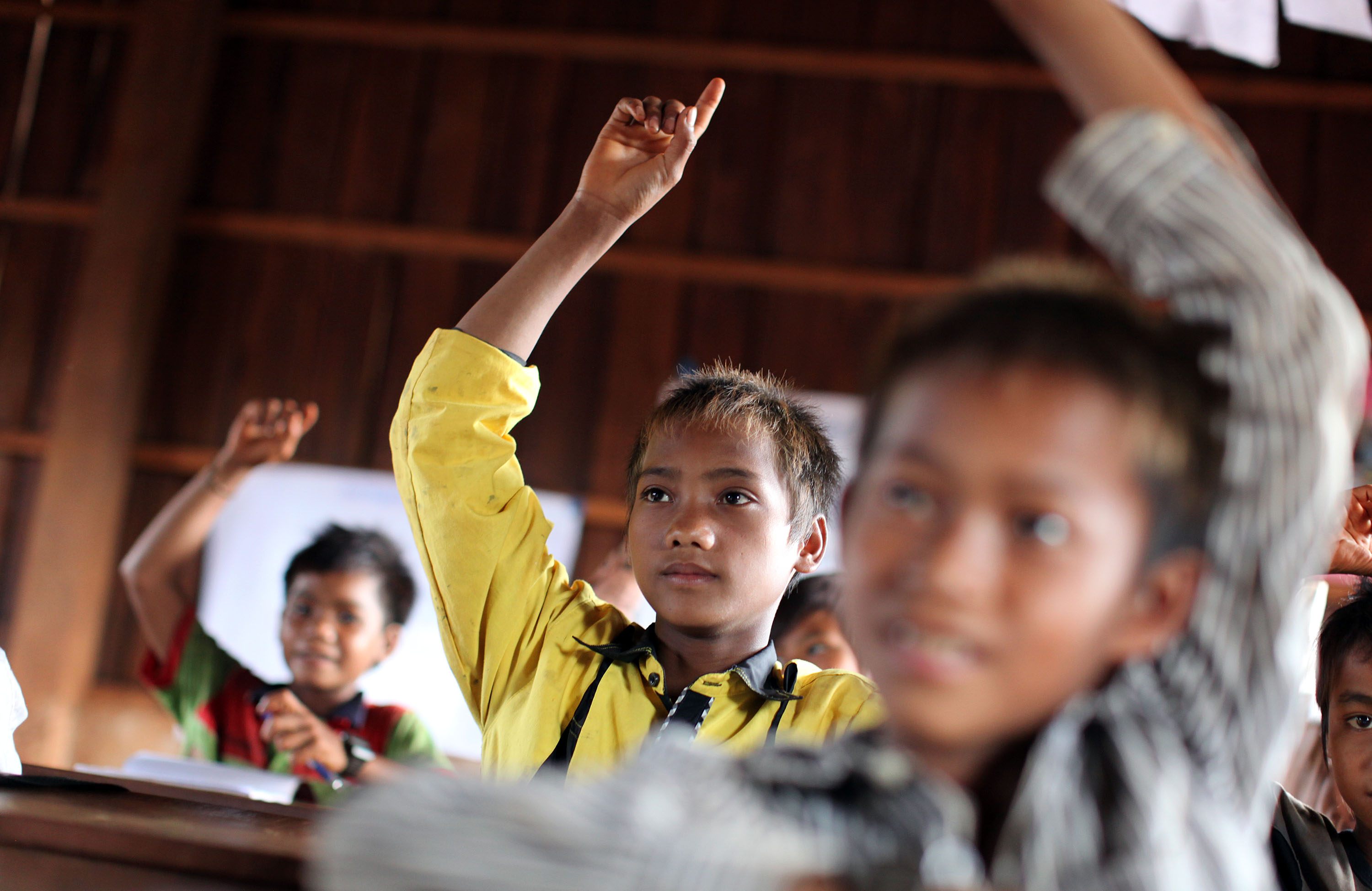 CARE's Highland Community Program allows indigenous children to begin learning in their native language, with the national language Khmer phased in over progressive year levels.