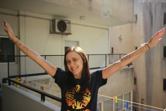 Alexandra from CARE Lebanon ran for the world's attention. ©CARE/Johanna Mitscherlich