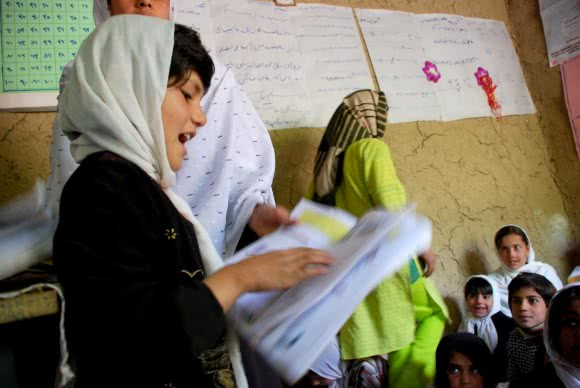 Afghanistan is one of the poorest countries in the world. Education can be out of reach for many - particularly girls and those living in remote areas. CARE has been supporting education in Afghanistan for nearly 20 years, providing children like this 9-year-old student with good quality education. Image: CARE.