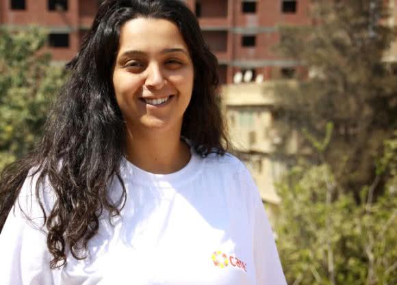 Sandra works in CARE's Women's Rights program in CARE Egypt