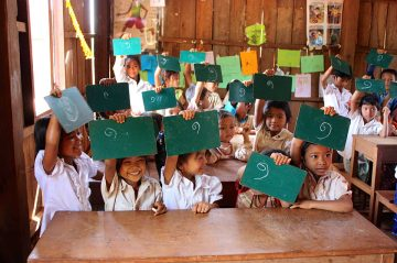 Khmer – Cambodia's national language – is the only language of instruction in public schools, but few of the ethnic groups in the north-east provinces speak or understand it. ©Laura Hill/CARE