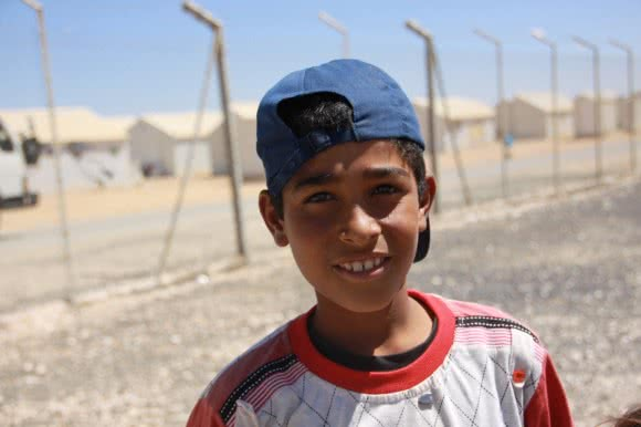 Mohammad* (14), in Jordan's Azraq camp.