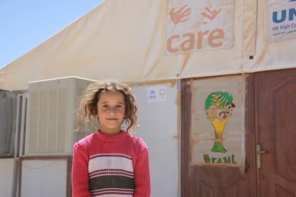 Ola* (6), a soon-to-be student at Jordan's Azraq camp's school.