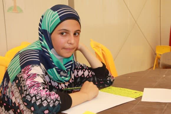 Ishda* (16), a student at Jordan's Azraq camp's school.