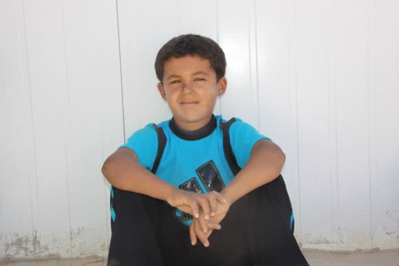 Assan* (5) from CARE's centre in Azraq camp.