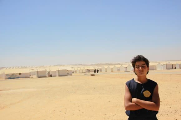 Majd* (15), from Jordan's Azraq camp.