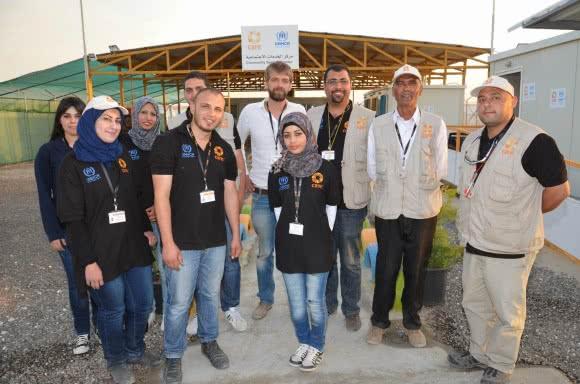 The CARE team at Azraq