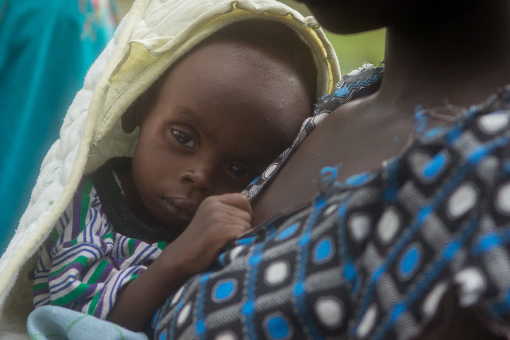 Baby in South Sudan