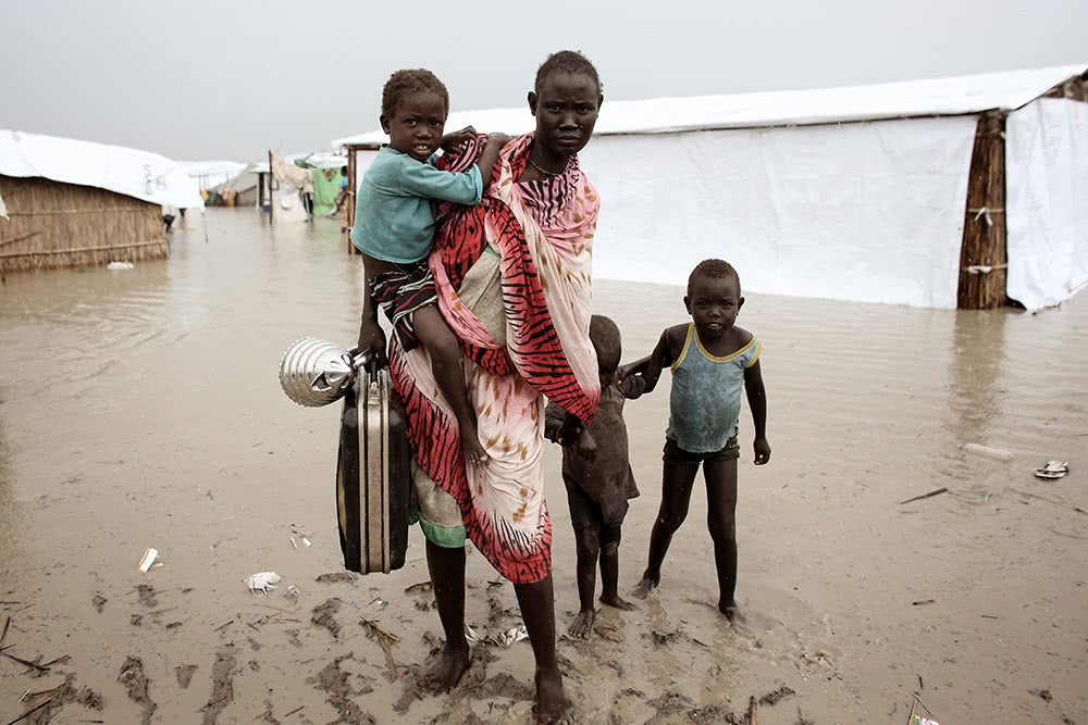 Family in South Sudan