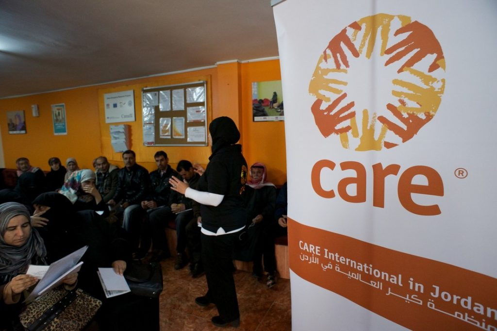 Group meeting at CARE in Irbid