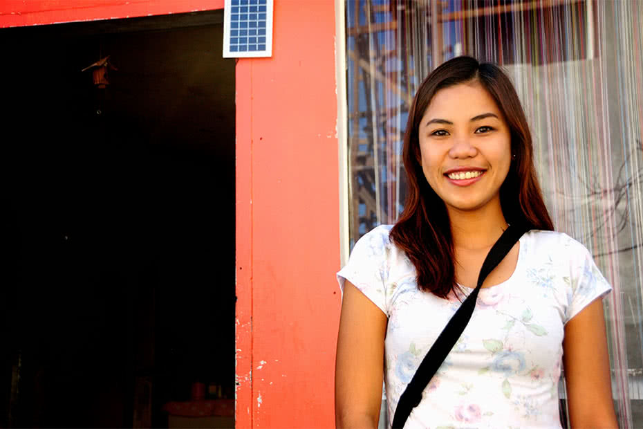 Rona Casil works with CARE Philippines in Tacloban. Her experience as a survivor of Typhoon Haiyan meant that she and her family were well prepared for Typhoon Hagupit only one year later. ©CARE