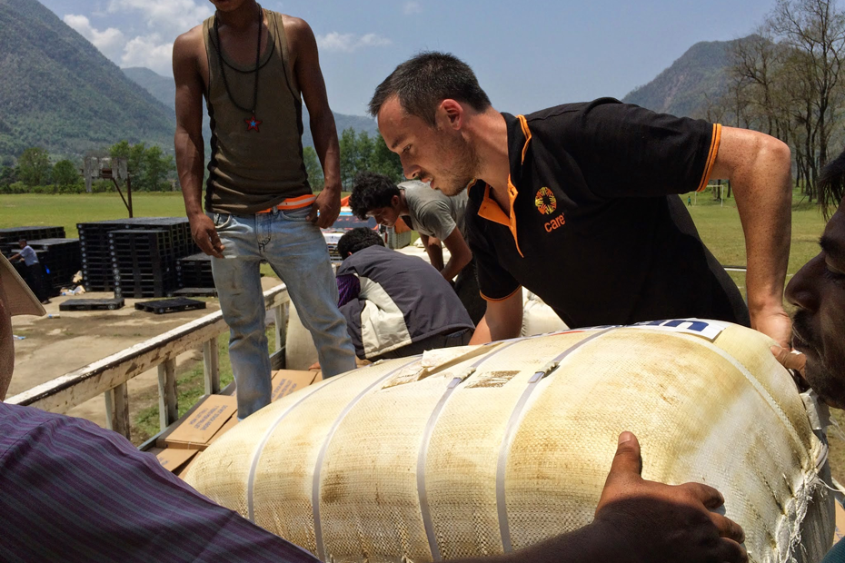 CARE's emergency supplies reach survivors of the Nepal Earthquake