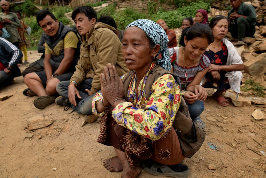 People are too scared to go back into their homes after the Nepal Earthquake.