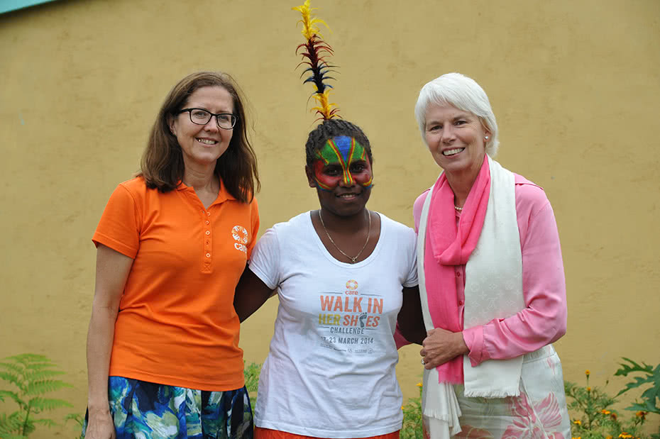 Julia Newton-Howes and Gail Kelly in Vanuatu