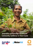CARE's report on taking a catchment approach to enhancing community resilience in Timor-Leste.