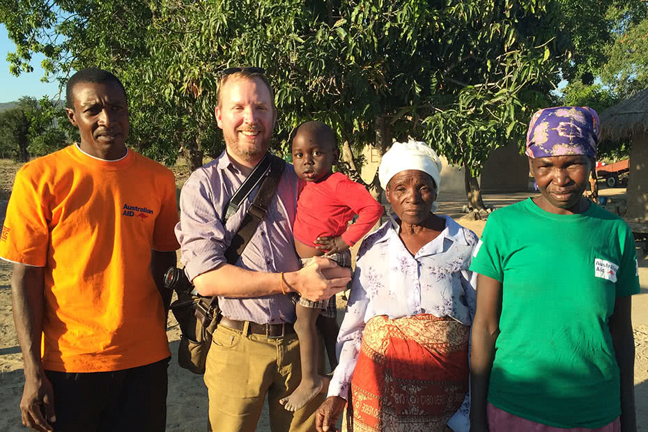 CARE's Howard Ralley visiting water and sanitation projects in Zimbabwe.