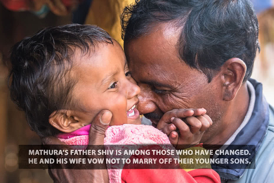 Photo of Mathura's father with his grandson