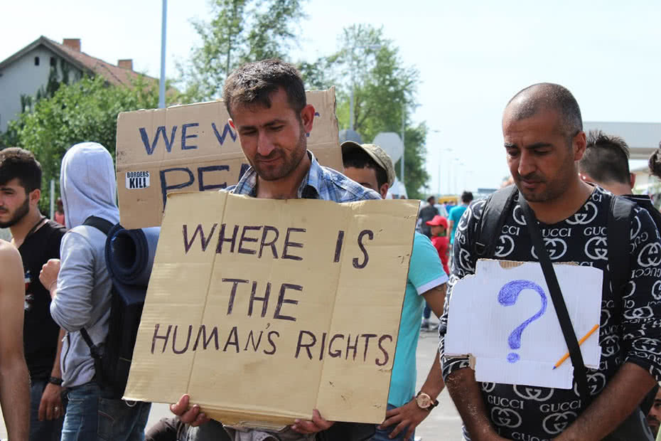 A Syrian man and refugee who has reached Serbia asks where the humanity has gone.