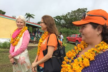 Women's Empowerment Ambassador Gail Kelly with CARE Australia CEO Julia Newton-Howes and Program Director for CARE Vanuatu Inga Mepham.