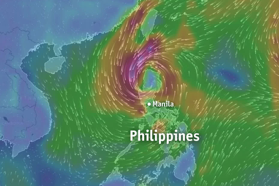 A powerful typhoon has battered Northern Philippines, killing at least one person and displacing more than 23,000 people.