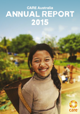 Thumbnail of CARE Australia's Annual report 2014/15.