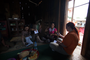 CARE Australia staffer Meagan Patroni saw firsthand the challenges faced by mothers in rural and remote communities when she visited Laos late last year. © CARE
