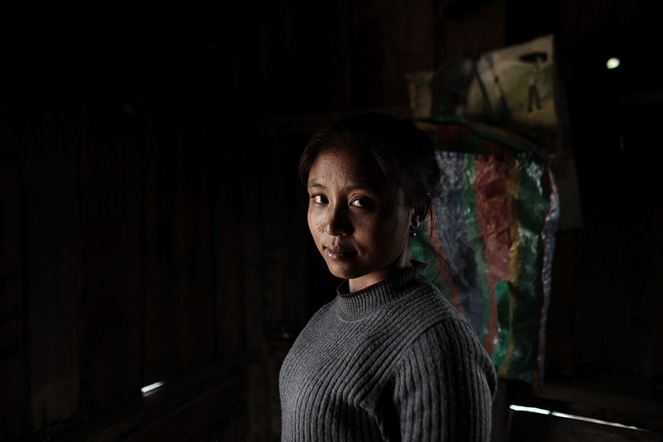 """""""We worry when we give birth at home,"""" says 23-year-old mother Soun. © Josh Estey/CARE"""