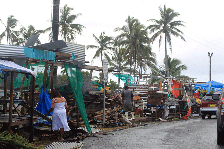 Cyclone Winston has battered Fiji in one of the worst storms on record in the Southern Hemisphere. © Sarah Boxall/CARE