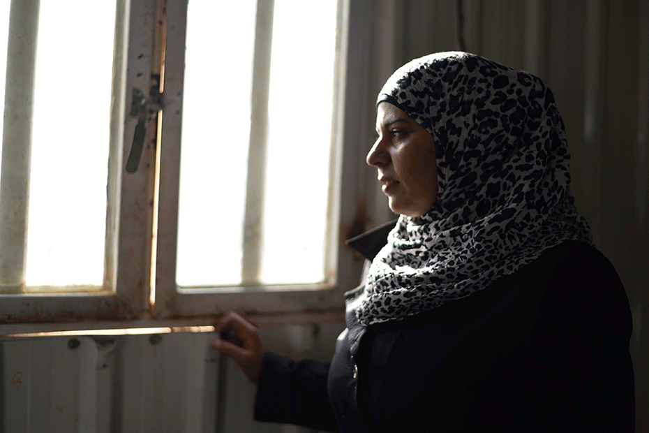 After years of trying to flee war-torn Syria, three months ago Ahlam, 29, made it to a refugee camp in Jordan.