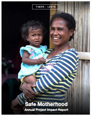 Timor Leste - Safe Motherhood